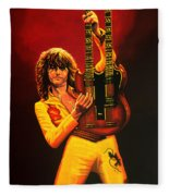 Jimmy Page Painting Fleece Blanket