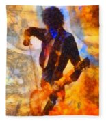 Jimmy Page Playing Guitar With Bow Fleece Blanket