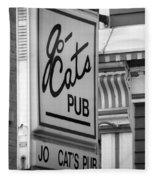 Jo Cats Pub Fleece Blanket