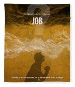 Job Books Of The Bible Series Old Testament Minimal Poster Art Number 18 Fleece Blanket
