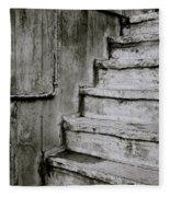 The Monochrome Steps Fleece Blanket