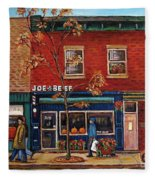 Joe Beef Restaurant Montreal Fleece Blanket