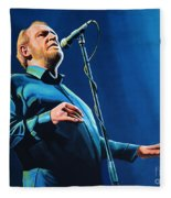 Joe Cocker Painting Fleece Blanket