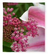 Asclepias And Friend Fleece Blanket