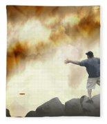 Joe Vs. The Volcano Fleece Blanket