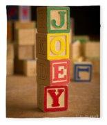 Joey - Alphabet Blocks Fleece Blanket