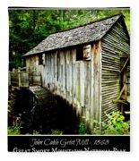 John Cable Grist Mill - Poster Fleece Blanket
