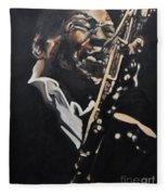 John Coltrane Fleece Blanket