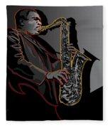 John Coltrane Jazz Saxophone Legend Fleece Blanket