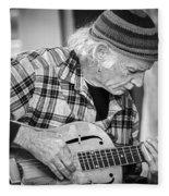John Decker - Grayscale Fleece Blanket