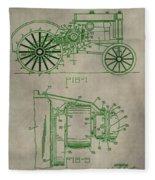 John Deere Patent Fleece Blanket