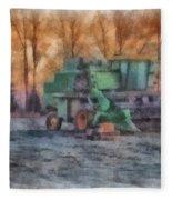 John Deere Photo Art 01 Fleece Blanket