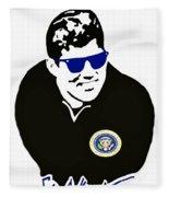 John F Kennedy Signature Wayfarer Fleece Blanket