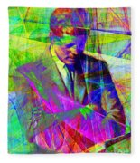 John Fitzgerald Kennedy Jfk In Abstract 20130610v2 Fleece Blanket