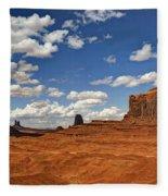 John Ford Point - Monument Valley  Fleece Blanket