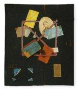 Old Time Card Rack Fleece Blanket