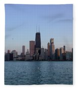 John Hancock Building And Chicago Il Skyline Fleece Blanket