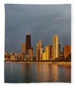 John Hancock Building Fleece Blanket
