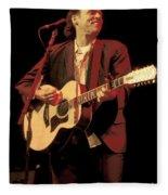 John Hiatt Fleece Blanket