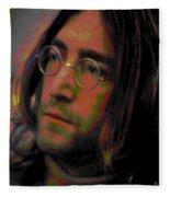 John Lennon 2 Fleece Blanket