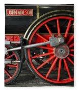 John Molson Steam Train Locomotive Fleece Blanket