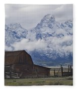 John Moulton Barn Grand Teton National Park Wyoming Fleece Blanket