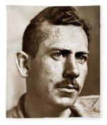 John Steinbeck American Author Circa 1938 Fleece Blanket