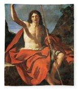 John The Baptist Fleece Blanket
