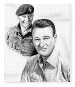 John Wayne Fleece Blanket