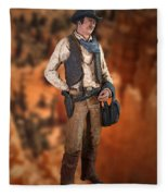 John Wayne The Cowboy Fleece Blanket