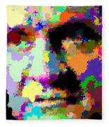 Johnny Cash - Abstarct Fleece Blanket