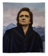 Johnny Cash Painting Fleece Blanket