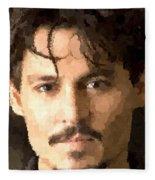 Johnny Depp Portrait Fleece Blanket