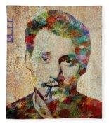 Johnny Depp Watercolor Splashes Fleece Blanket