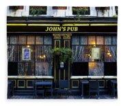 John''s Pub Fleece Blanket