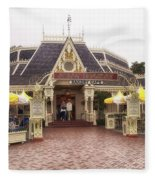 Jolly Holiday Cafe Main Street Disneyland 02 Fleece Blanket