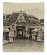 Jolly Holiday Cafe Main Street Disneyland Heirloom Fleece Blanket