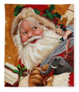 Jolly Santa Fleece Blanket