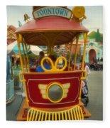 Jolly Trolley Disneyland Toon Town Fleece Blanket