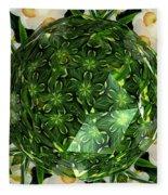 Jonquil Kaleidoscope Under Polyhedron Glass Fleece Blanket