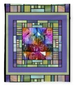Jornada Mogollon Kaleidoscope Fleece Blanket