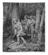Joseph Brown Leading His Company To Nicojack, The Stronghold Of The Chickamaugas, Engraved Fleece Blanket
