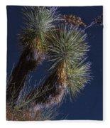 Joshua Tree By Moonlight Fleece Blanket