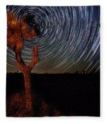 Joshua Tree Star Trails Fleece Blanket