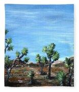 Joshua Trees Fleece Blanket
