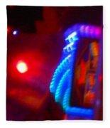 Journey Of The Deep Space Robot Fleece Blanket