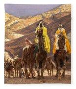 Journey Of The Magi Fleece Blanket
