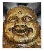 Jovial Buddha Fleece Blanket