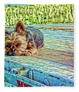 'jovie' Truckin Dogs Need Breaks Too Fleece Blanket