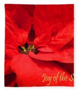 Joy Of The Season Fleece Blanket
